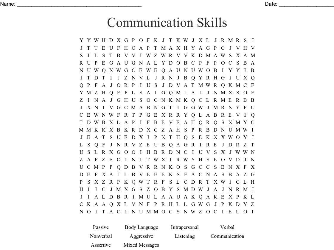 Information And Communications Technology Word Search