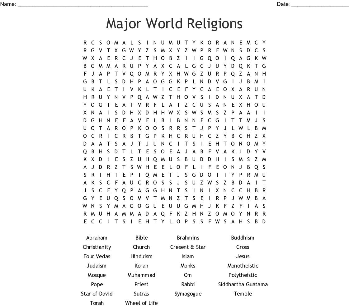 Free Printable Religious Word Searches