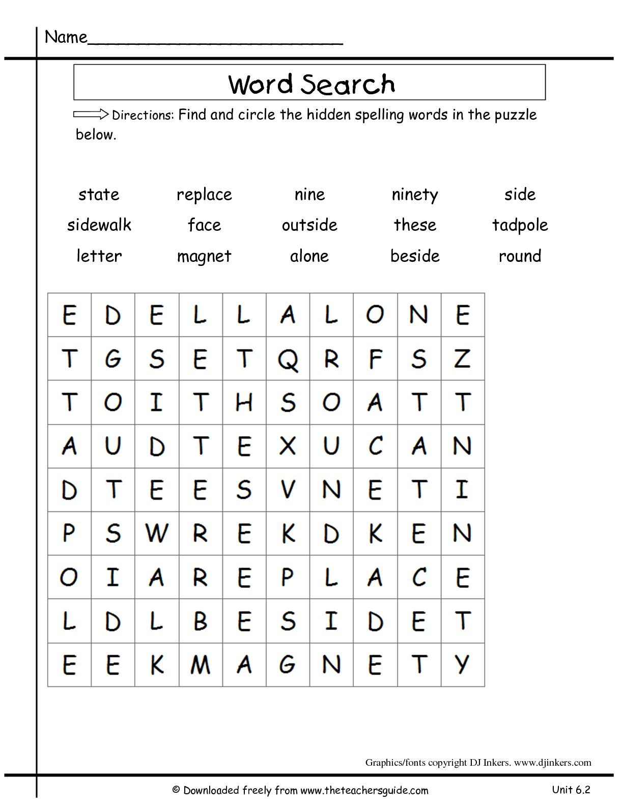 Kindergarten Worksheet Word Finds Jobs