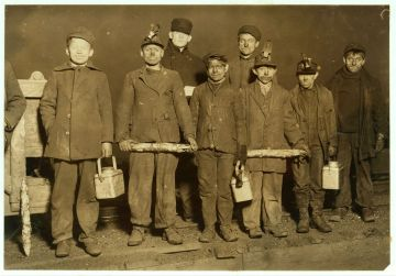 Lewis Hine traveled America photographing and reporting on the use of child labor across different industries on behalf of the National Child Labor Committee.