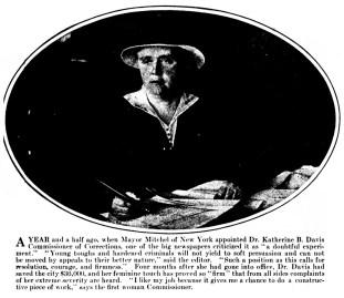 Dr. Katherine B. Davis - Commissioner of Corrections (1915)
