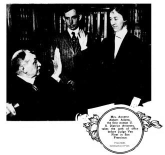 Annette Abbot Adams, first women U.S. District Attorney. (1918)