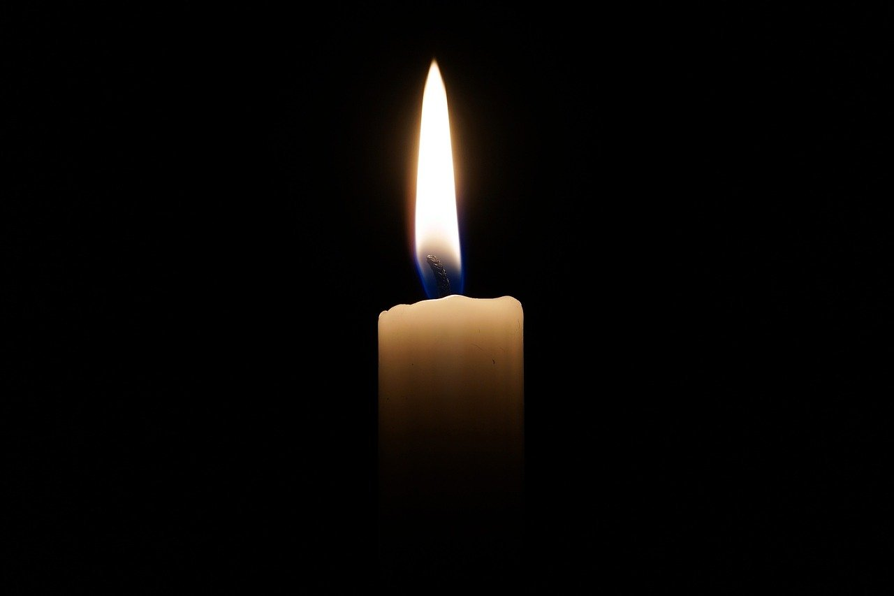 candle, light, candlelight, death, loss,