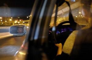 A taxi driver in Shanghai.