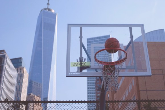 Basketball courts in New York City