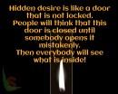 Hidden desire