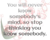 Know somebody's mind