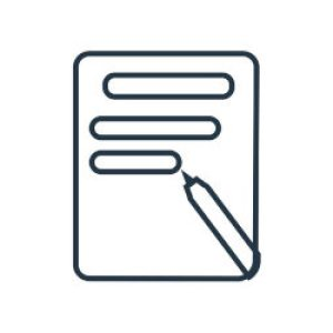 Writing Icon In Trendy Design Style. Writing Icon Isolated On Wh