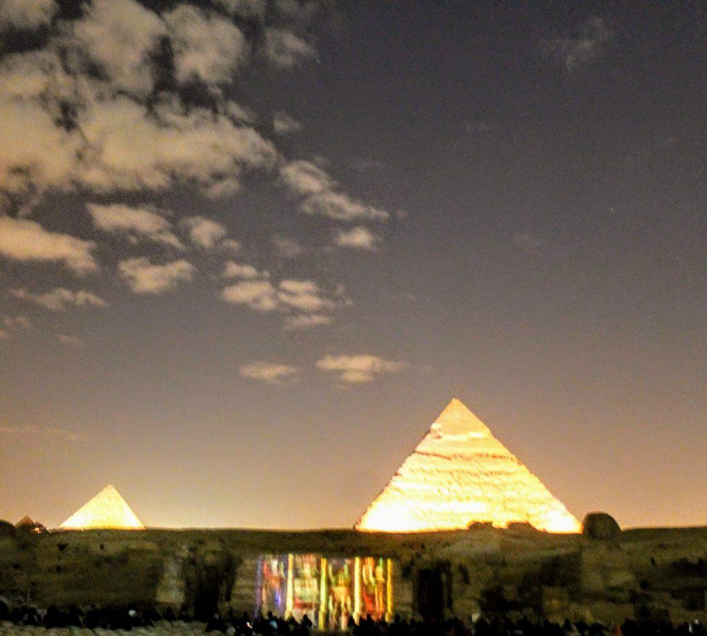 Sound & Light show at the pyramids