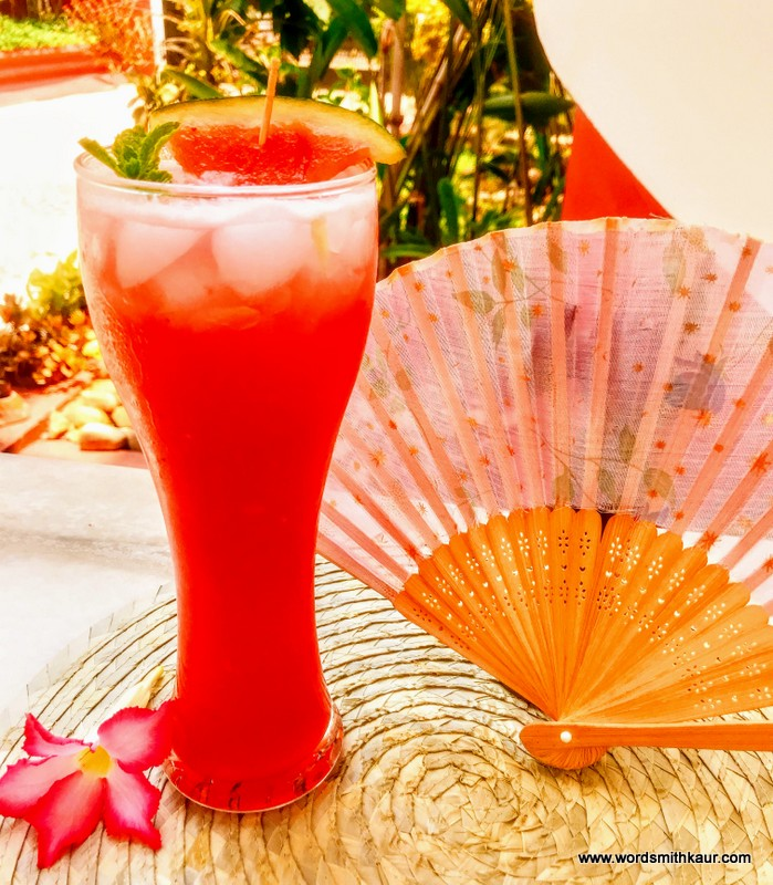 Watermelon and Ice apple Mocktail
