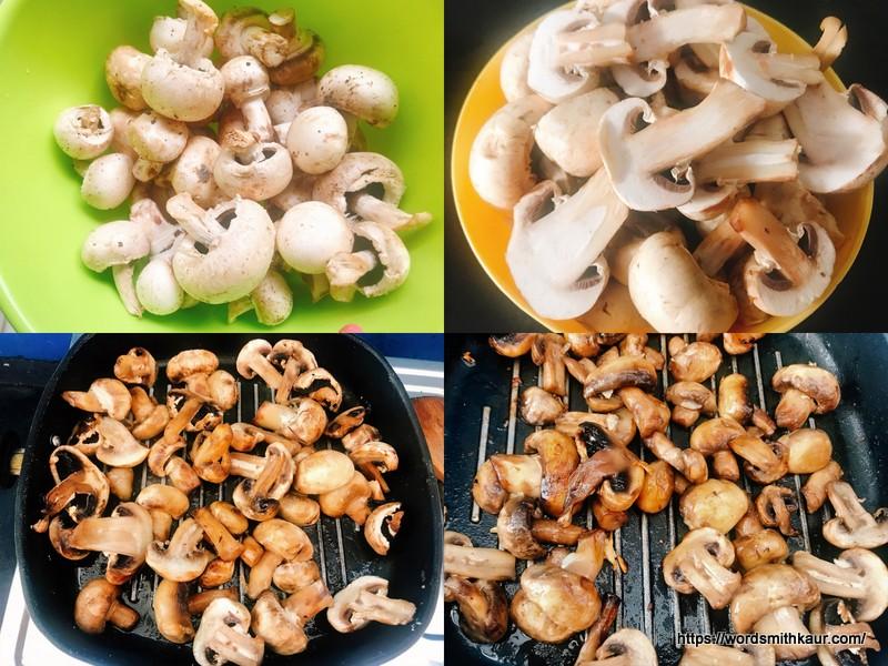 Mushrooms sauteed for Garlic Mushrooms Recipe