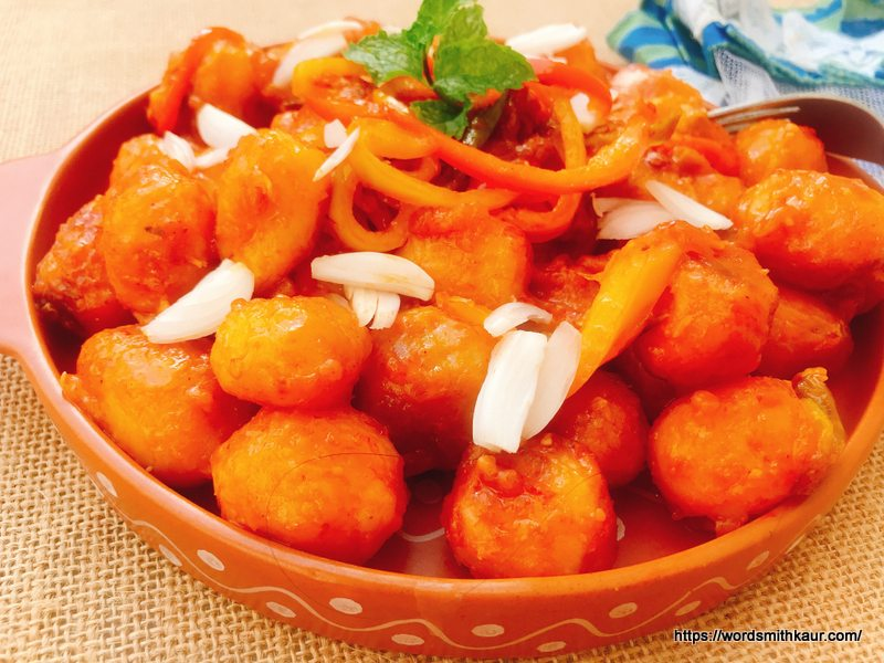 Hot and Spicy Schezwan Baby Potatoes