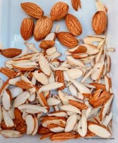 Almonds chopped