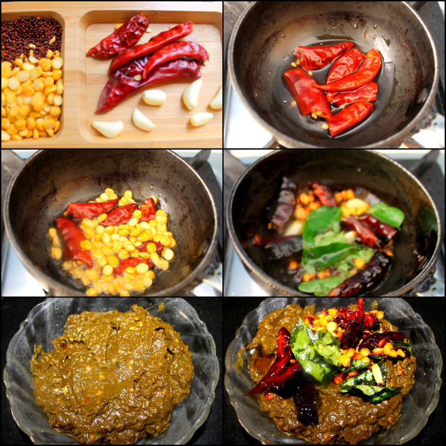 Tempering for Andhra Gongura Pachadi Recipe