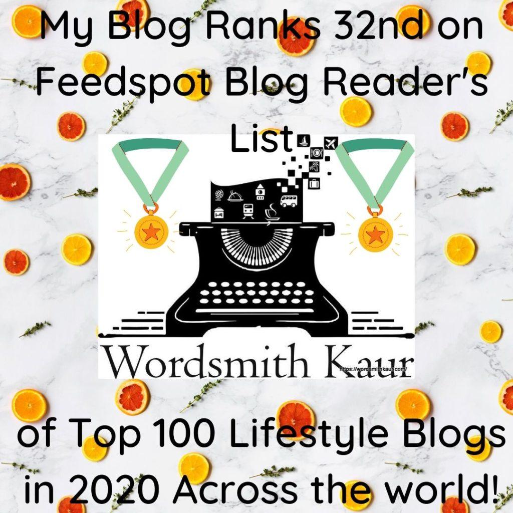 WordsmithkaurTop 100 Lifestyle Blogs