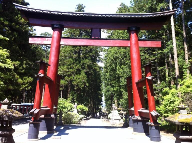 Le Tori, arche d'entrée des temples Shinto.