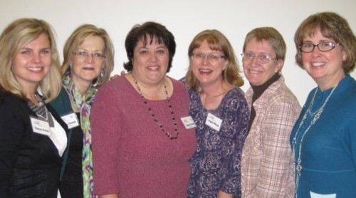 Kathy Nickerson with fellow CrossRiver authors at conference