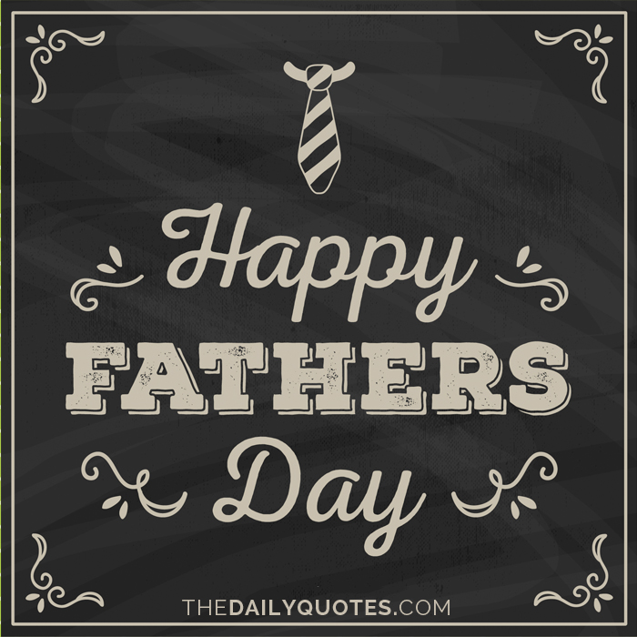 Happy Father's Day.
