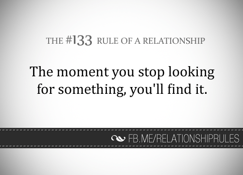 stop looking for a relationship