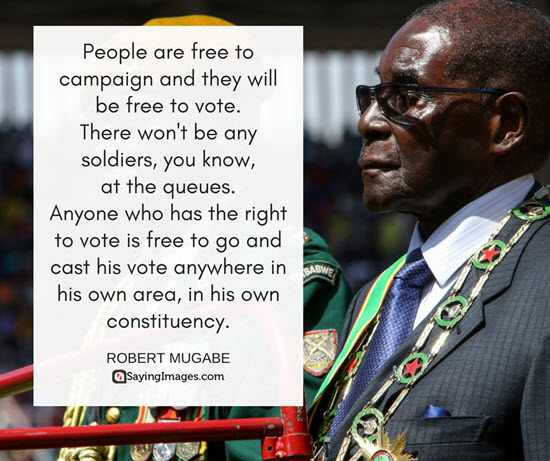 famous mugabe quotes