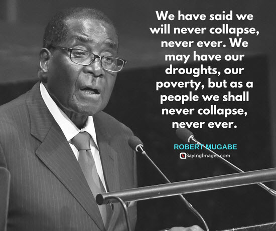 robert mugabe sayings