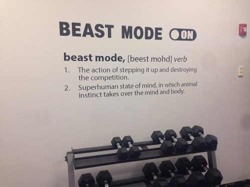 Beast mode On Gym Quotes