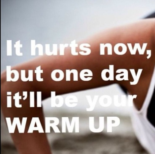 Hurts Now Gym Quotes