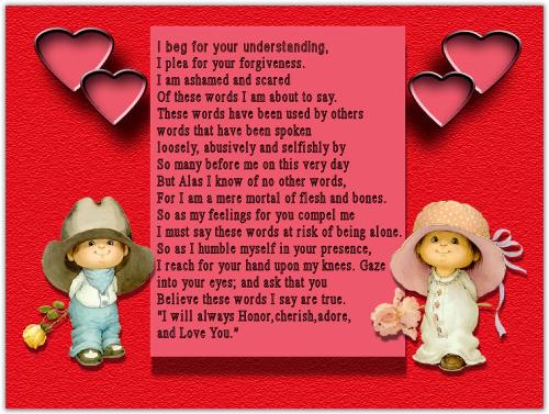 Romantic Love Poems for Him