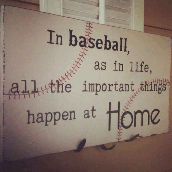 Comparing baseball and family quotes.
