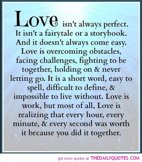 Love Isnu0027t Always Perfect