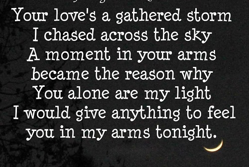 In my Arms Tonight Love Quotes for Her