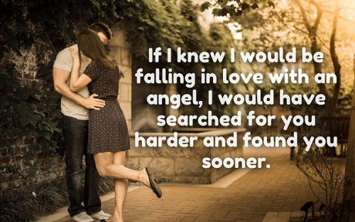 Falling for an Angel Love Quotes for Her