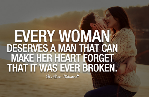 Deserve a Man Love Quotes for Her