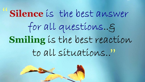 Silence Lovely Quotes