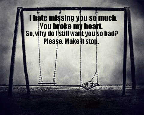 I hate feeling missing you quotes.