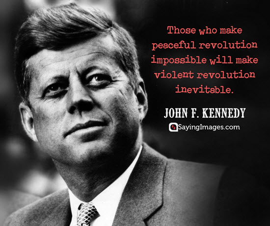 john f kennedy revolution quotes
