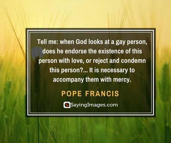 pope francis gay quotes