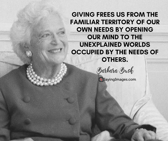 barbara bush giving quotes