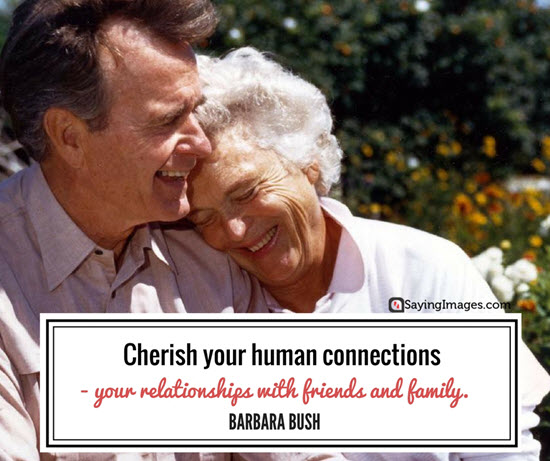 barbara bush human connections quotes