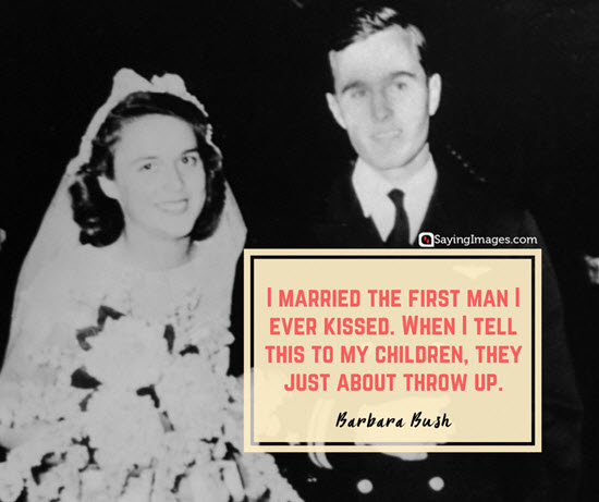 barbara bush married quotes