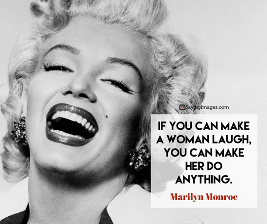 marilyn monroe laugh quotes
