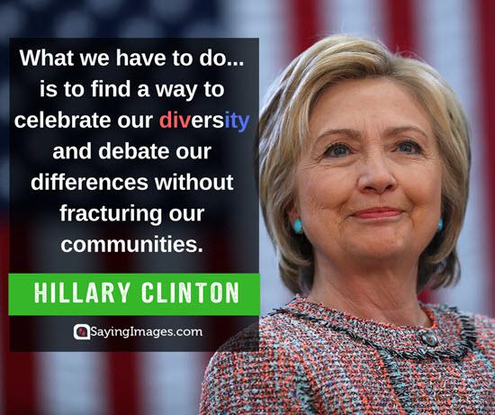 hillary clinton diversity quotes