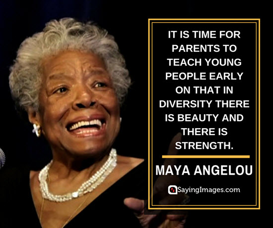 maya angelou diversity quotes