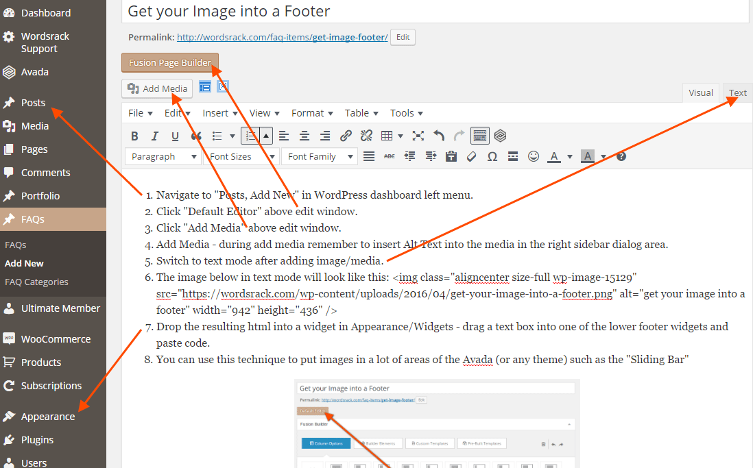 get your image into a footer featured image 1