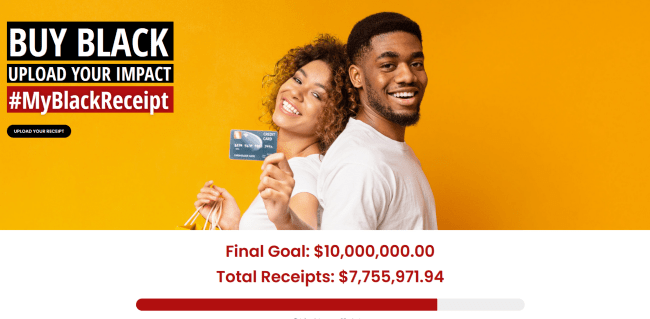 The My Black Receipt campaign became popular because people were tired of the lack of support for Black-owned businesses. You can use it to keep track of how many of your purchases are made in Black-owned stores.