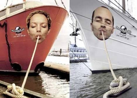 Реклама на лодках