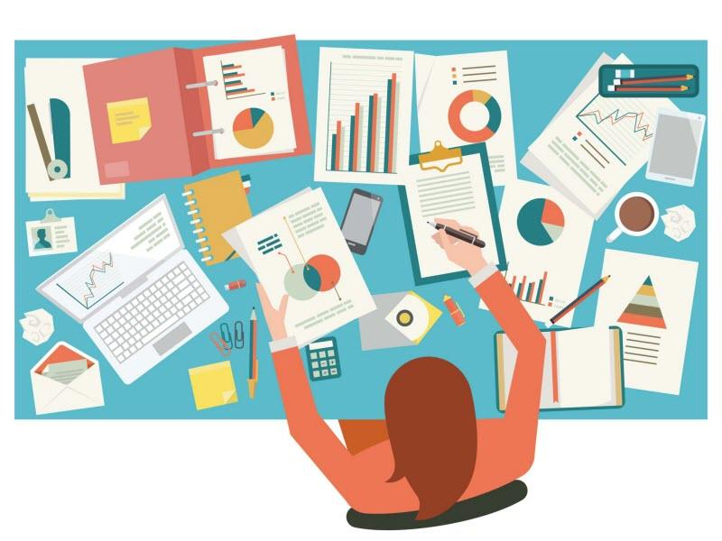 Customer pain points qualitative research concept illustration