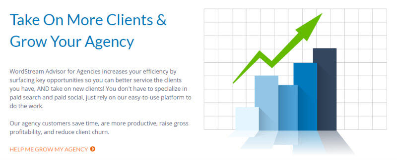 Customer pain points WordStream for Agencies benefits