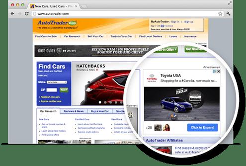 Exemplo de anúncio na Rede de Display do Google para publicidade on-line