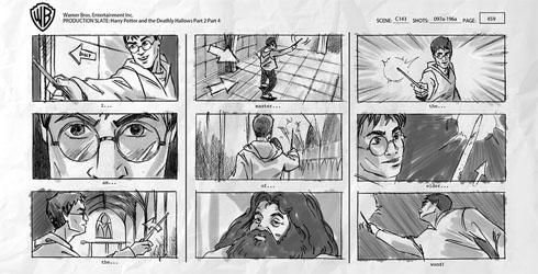 Harry Potter storyboard
